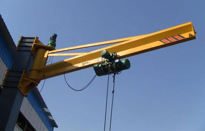 Jib Cranes Design : Material handling jib crane electric hoist rope chain